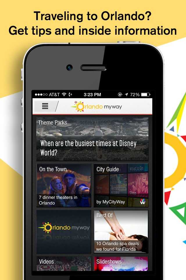 Traveling to Orlando? Get tips and inside information in the new Orlando My Way app for iOS and Android.