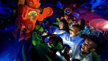 48. Buzz Lightyear Space Ranger: Shooting-gallery game that puts guests in the center of a space battleLocation: TomorrowlandHeight: Any