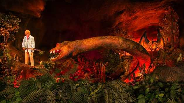 13. Ellen Energy Adventure: Guests sit in a theater of Ellen DeGeneres's subconscious while being transported through forests where dinosaurs dwell.Located in Future WorldDuration: 45 minutes