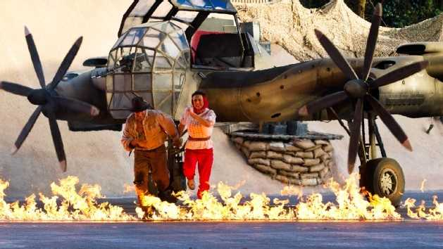 9. Indiana Jones Epic Stunt Spectacular: A fast-paced thrill ride on a troop transport that ventures inside a cursed temple.Location: Echo LakeHeight: 46 inches (117 cm) or taller