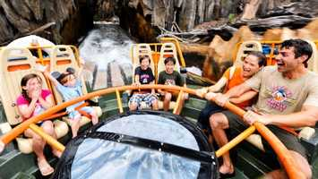 25. Kali River Rapids: A river raft ride that takes guests through a jungle landscape Location: AsiaHeight: 38 inches (97 cm) or taller