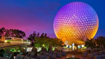 19. Spaceship Earth: Explore the iconic geosphere and explore the history of communications.Location: Future WorldHeight: Any