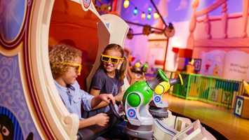 8. Toy Story Mania: 4D virtual game where guests can shoot moving targets Location: Pixar PlaceHeight: Any