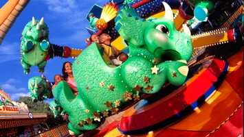 31. Tricera Top Spin: A carnival-inspired attraction that spins guests on top of a dinosaurLocation: DinoLand U.S.A.Height: Any