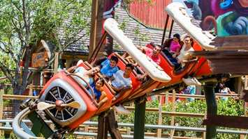 45. Barnstormer: Take a seat and enjoy a thrilling junior roller coaster above Storybook Circus. Location: FantasylandHeight: 35in (89cm) or taller