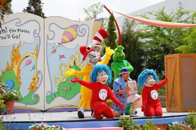 13. Oh! The Stories You'll Hear: The creatures in the Dr. Seuss' tales will dance, sing and rhyme his stories daily in Suess Landing. Show times: 10:30 a.m., 11:30 a.m., 12:30 p.m., 2:30 p.m., 3:30 p.m., 4:30 p.m.
