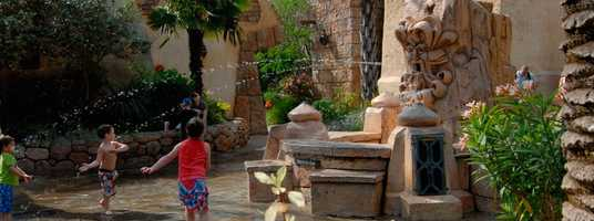 20. The Mystic Fountain: This mischievous fountain in Sinbad's Bazaar tells riddles and jokes and even squirts the guests who dare to talk back.