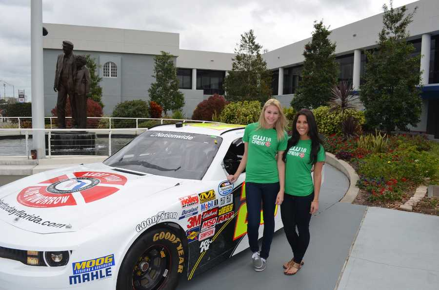 Kelsey and Danielle from the CW18 Crew attended the Alert Today, Alive Tomorrow press conference during Speed Weeks at the Daytona International Speedway.