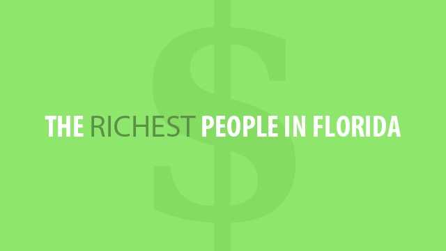 "Forbes Magazine came out with its annual ""Richest Americans"" list on Monday. We combed the data and found that 33 of them are from the Sunshine State. The first number is their Florida ranking (with overall ranking in parentheses), followed by their names, hometowns and net worth in billions."