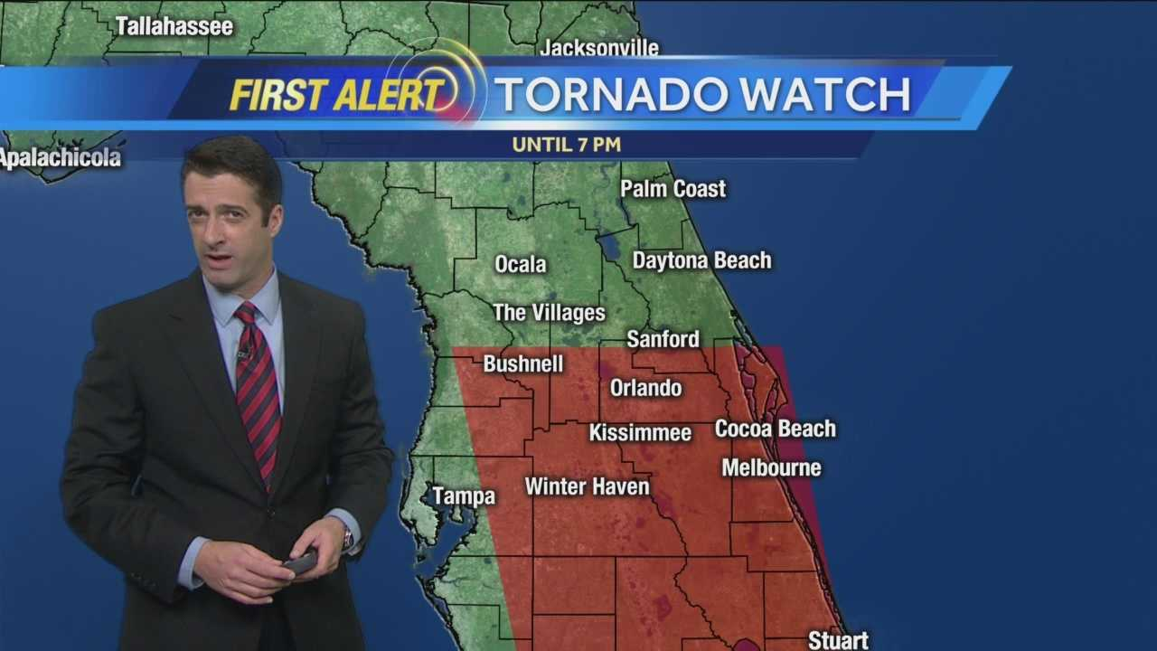WESH 2 First Alert Chief Meteorologist Tony Mainolfi has the latest update on today's tornado watch.