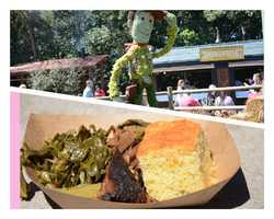 Chef's pick #3: Round up your appetite at Smokehouse Barbecue & Brews located at the American Adventure Courtyard. Here you can indulge in true American barbecue with their smoked beef brisket platter served with collard greens and jalapeno corn bread. $6.75While you're here, don't forget to try the new Piggylicious bacon cupcake. It is topped with a maple frosting and pretzel crunch featuring Nueske's applewood smoked bacon. $3.50