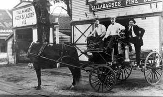 1900: A Tallahassee hose wagon.