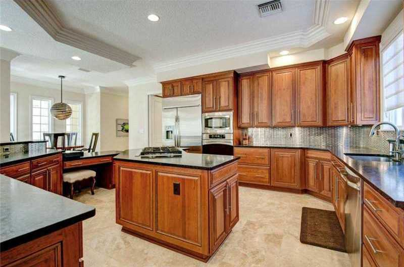 It also features exotic graphite and cobalt blue granite, along with top-of-the-line appliances.