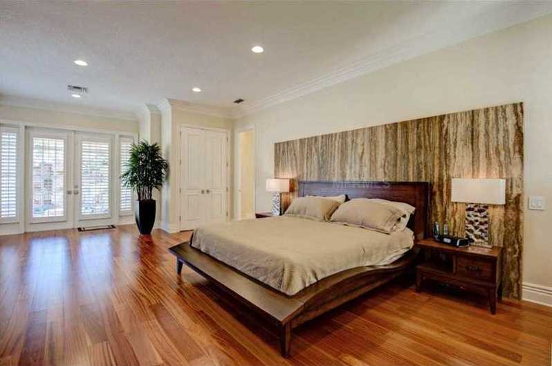 The master bedroom is as gracious, as it is beautiful.
