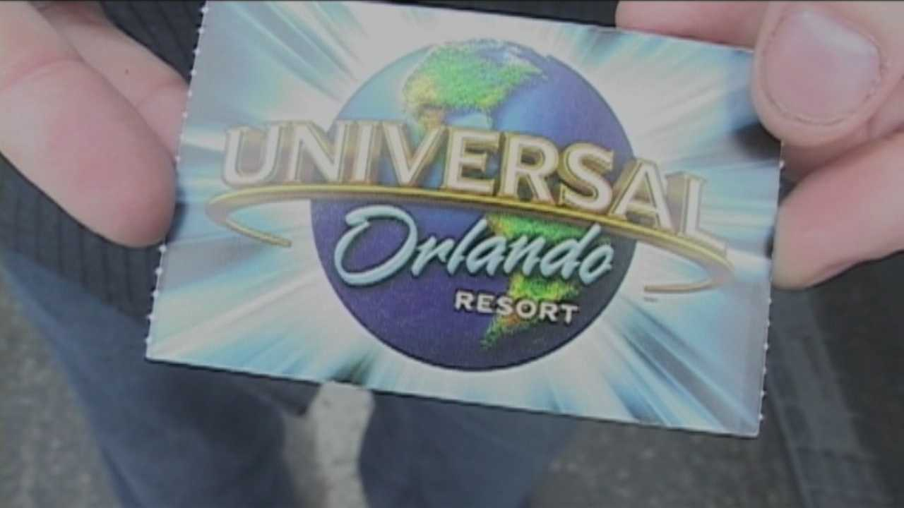 Clayton Cangelosi bought a two park pass to Universal Studios and spent an extra $50 to rent a motorized wheelchair, but Cangelosi said it wasn't until he tried to get in line for a ride that he was told the scooters weren't allowed in the queue.