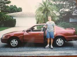 3. Brett's first car -- a 1995 Toyota Camry.