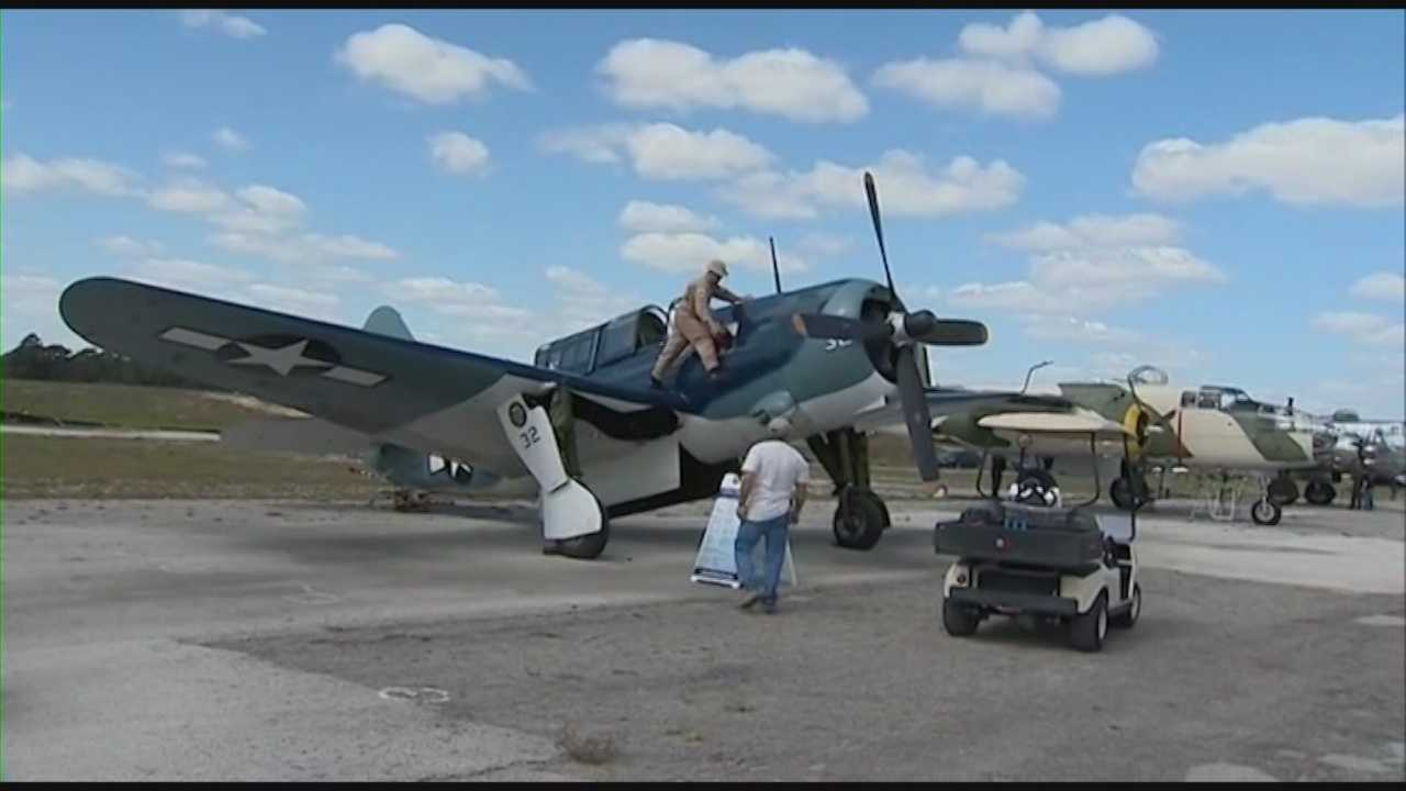 Warbirds from World War II are part of the main attractions in the Titusville air show, which runs through the weekend.