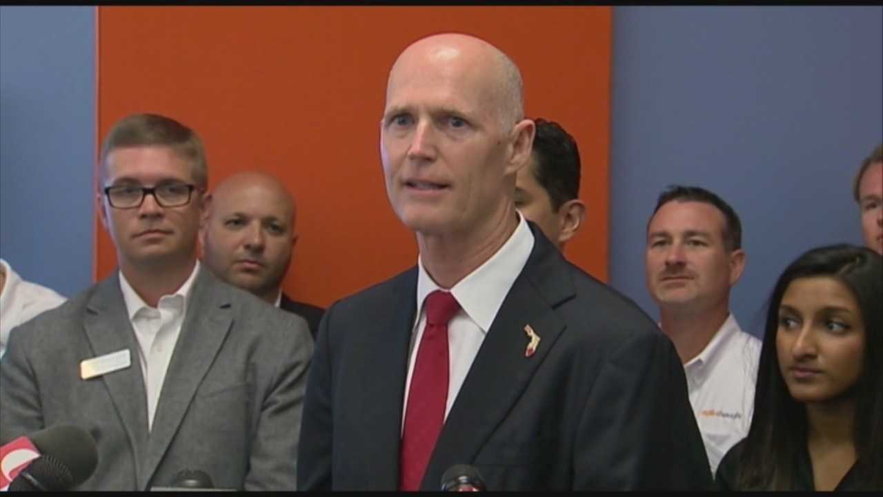 Gov. announces new unemployment numbers while in Orlando