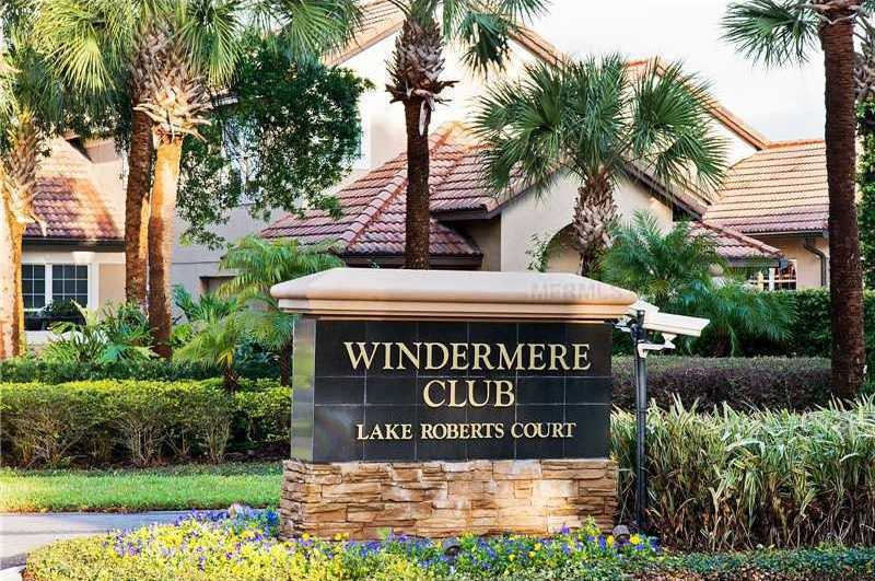 The home is located in the private and gated Windermere Club.