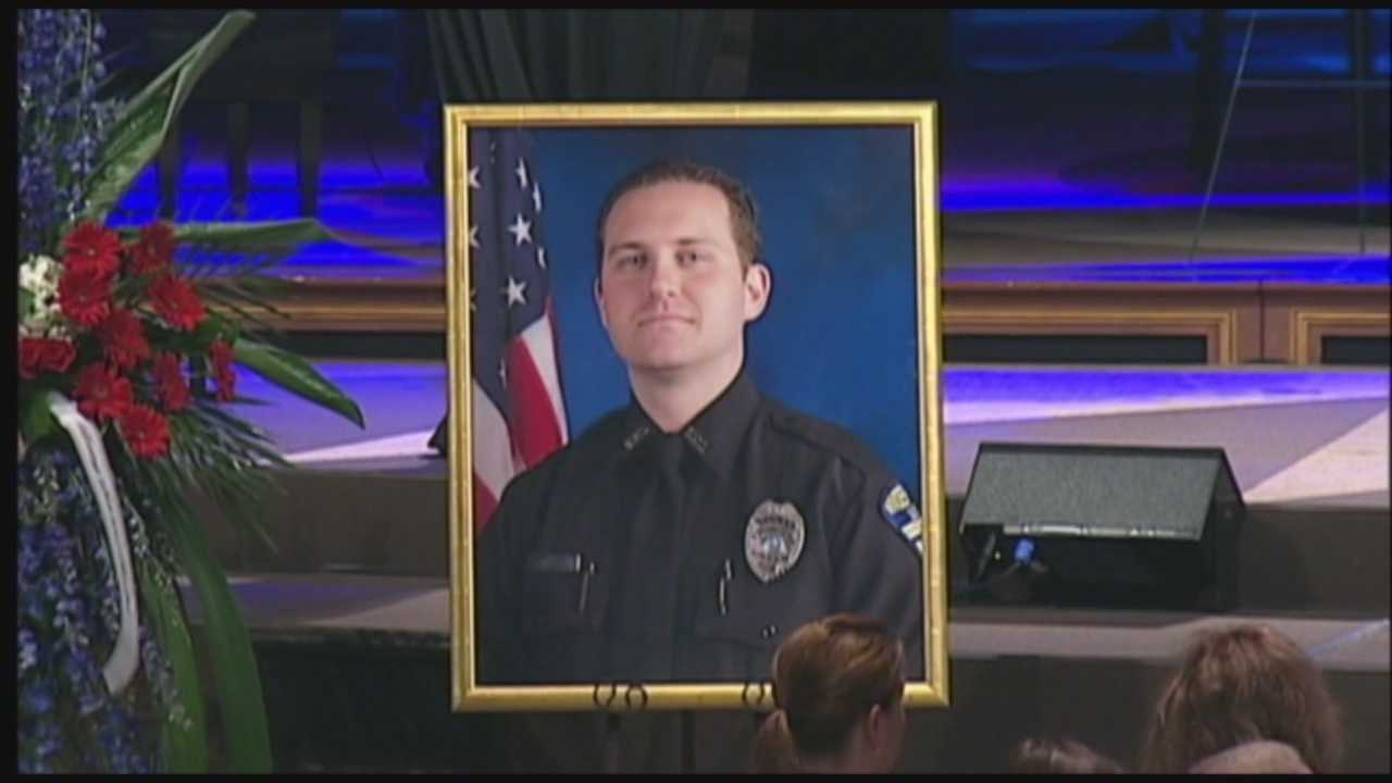 A funeral was held for officer Robert German on Thursday.