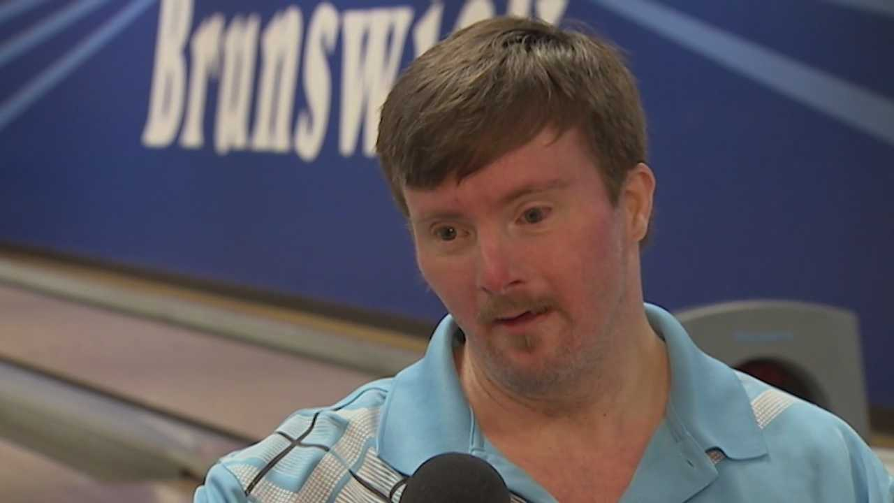 Bowler with special needs bowls 10 pins short of perfection