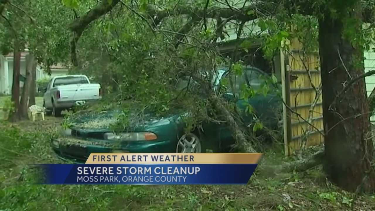 Residents clean up after severe storm