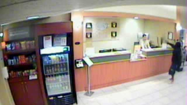 Hotel robbery surveillance photo