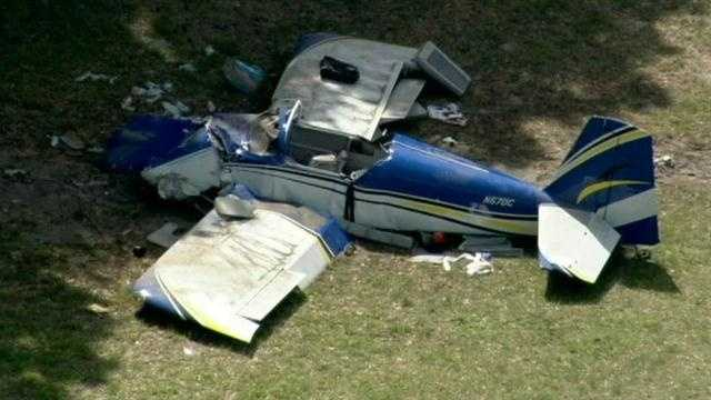 Two people aboard a small plane were killed when the amateur-built aircraft crashed Sunday night in Summerfield.
