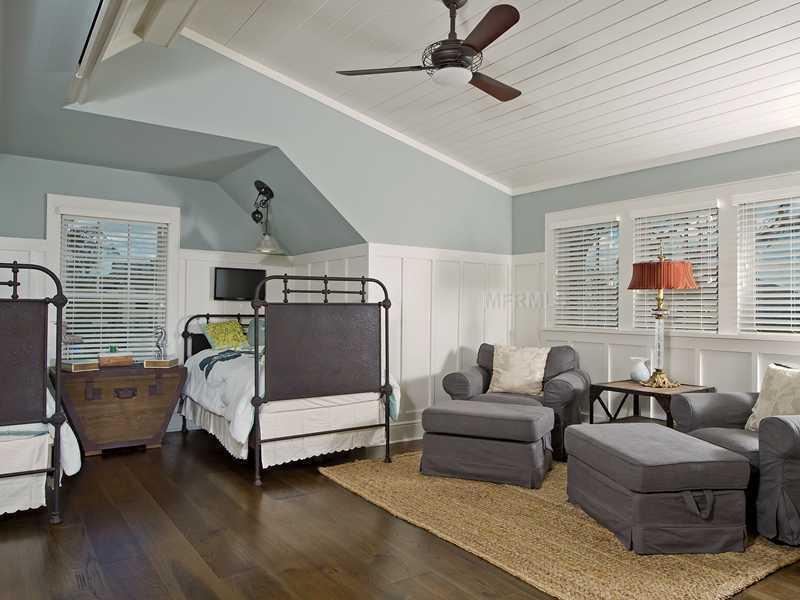 Oversized guest bedroom suite.