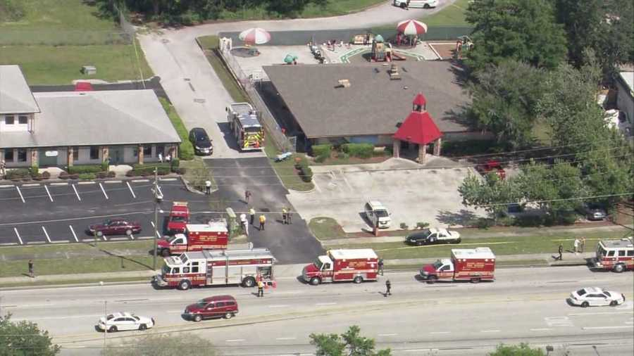 A vehicle crashed into an Orange County day care Wednesday afternoon, according to Orange County Fire Rescue officials.