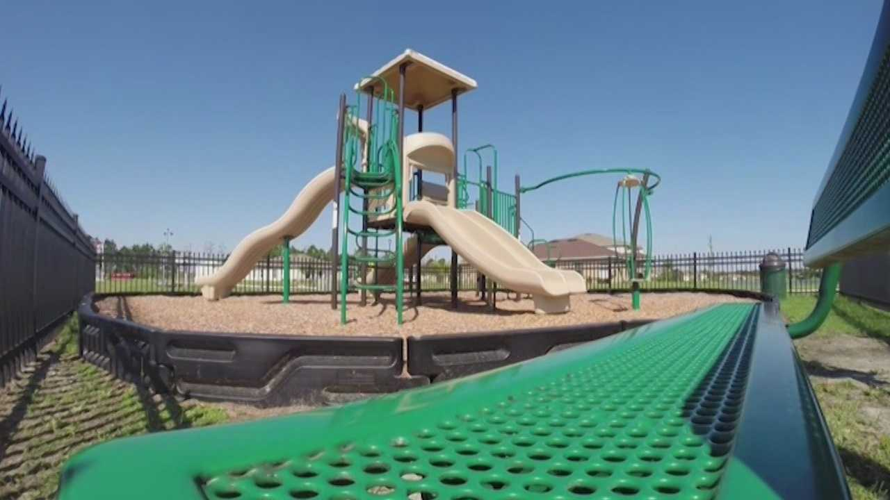 Assistant State Attorney Ryan Will had most neighbors donate $100 for the small playground after learning a resident was investigated for his interest in children. The playground placement puts the entire community off limits to sex offenders.
