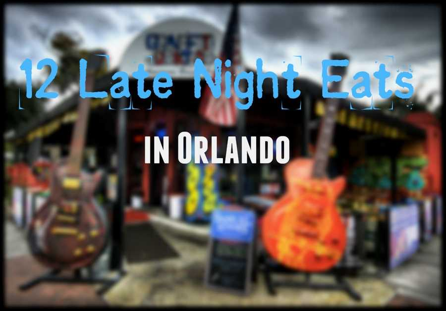 "When you're out late on the town and your stomach starts growling -- ""closed"" signs are the last thing you want to see on a restaurant door. Here are 12 restaurants in the Orlando area that stay open 12 a.m. or later. >>>Download the Orlando My Way app for iOS 