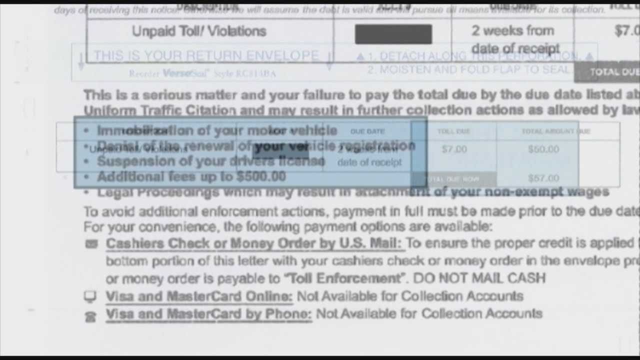 Fake toll notices seeking money being sent to Fla. drivers