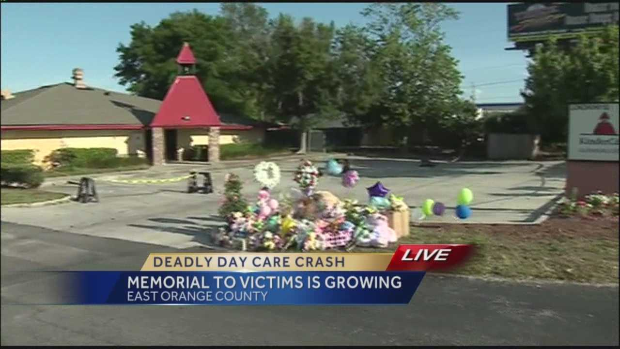 A memorial to the victims of Wednesday's deadly crash at a local day care was growing Saturday.