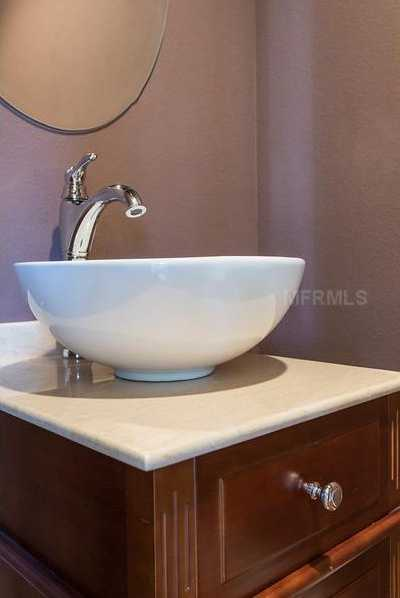 Beautiful sink in one of the guest suites.