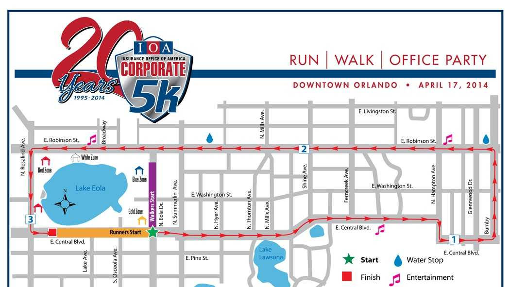 Corporate 5k 2014 Course Map