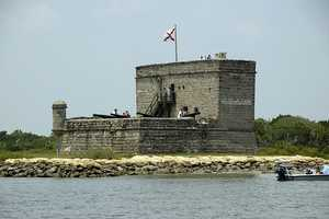 Fort Matanzas in St. Augustine was another region in Florida that Europeans fought for control over. It's about 100 acres of marsh and barrier islands along the Matanzas River.