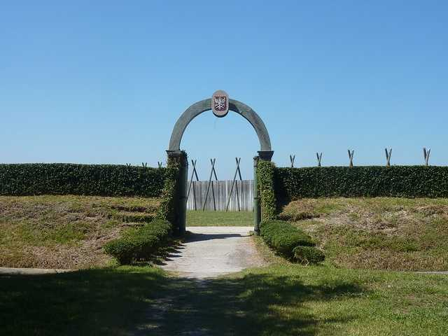 Fort Caroline in Jacksonville is a memorial of the French settlers who came to the region for religious freedom and a new life. They struggled for survival as the Spanish fought them several times for control of land.