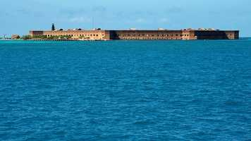 Dry Tortuga is nearly 70 miles away from Key West and is spread across 100 square miles made up of seven small islands. It is accessible only by boat or plane and is home to Fort Jefferson, amazing blue waters, coral reefs and vast marine bird life.