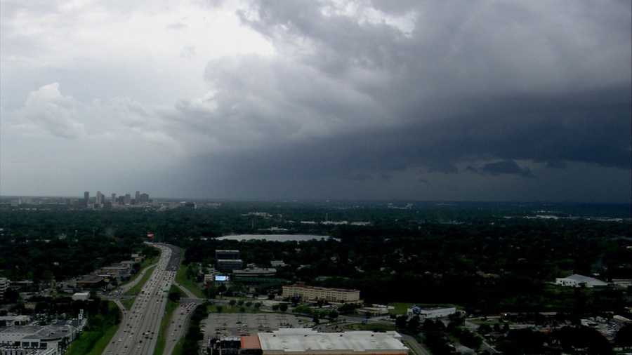 WESH 2 News viewers and reporters sent in pictures of clouds rolling through Central Florida on Friday.