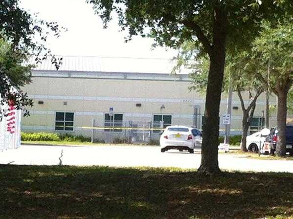 An 11-year-old Chain of Lakes Middle School student stabbed a 15-year-old classmate in the chest with a pair of scissors Wednesday morning, deputies said.