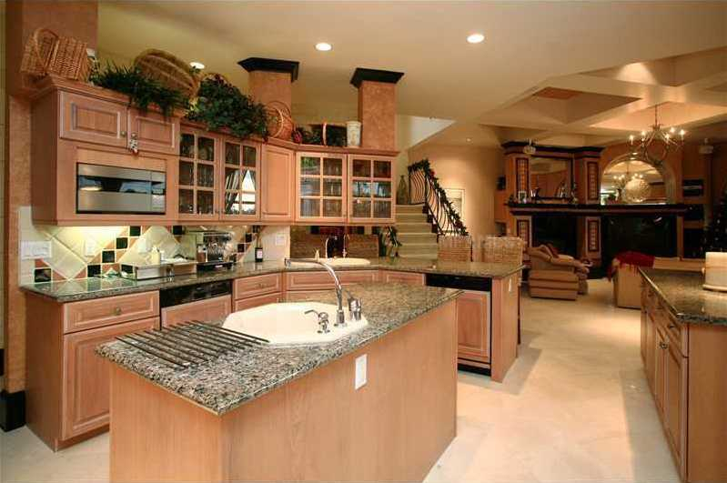 The home also features a staircase, which leads directly into the kitchen.