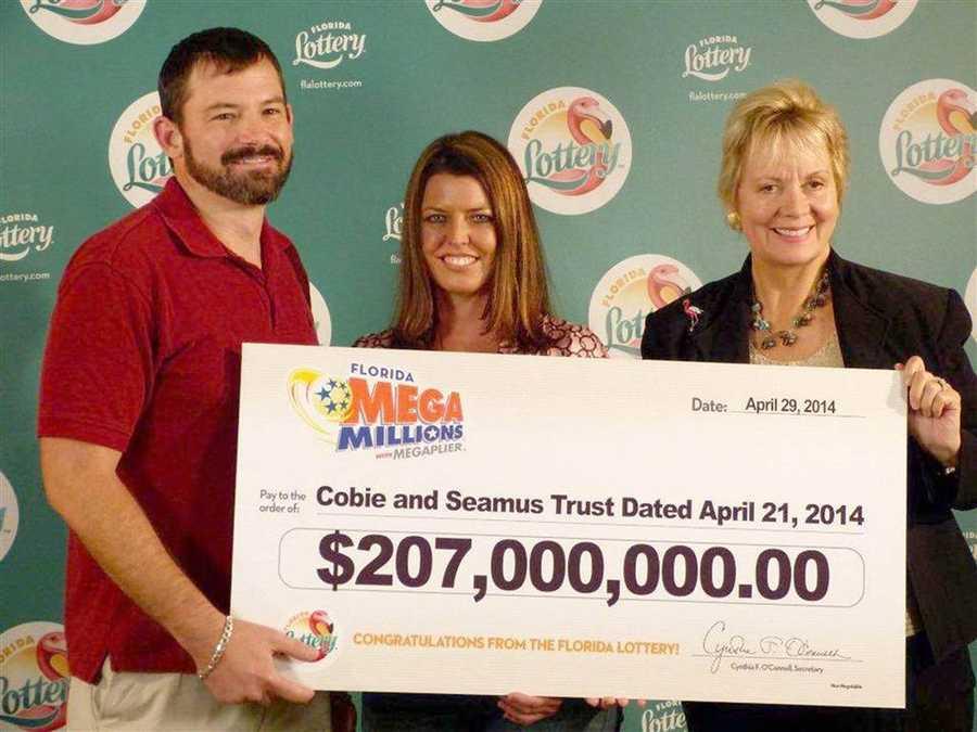 Raymon Moyer and Robyn Collier won $207 million in Mega Millions.