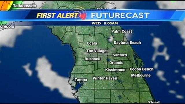 See an hour-by-hour look at storms expected Wednesday.