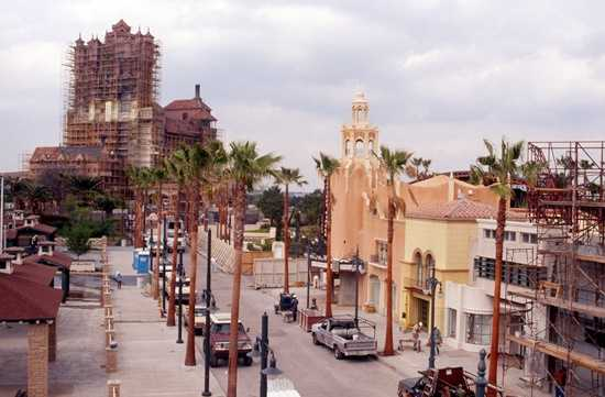 This is from 1994 showing the facade of the Tower of Terror starting to appear.