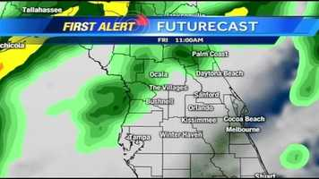See an hour-by-hour look at storms expected Friday.
