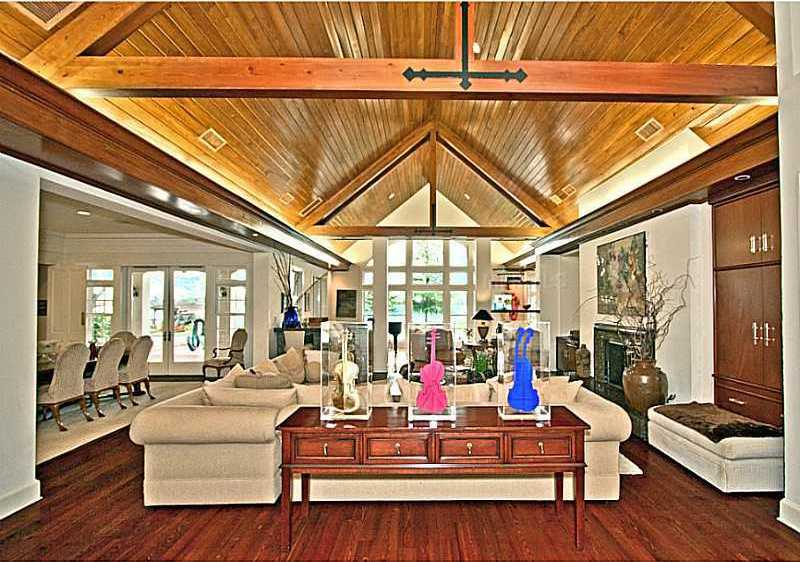 The hardwood floors and ceilings are the first feature to stand out upon entering the home.