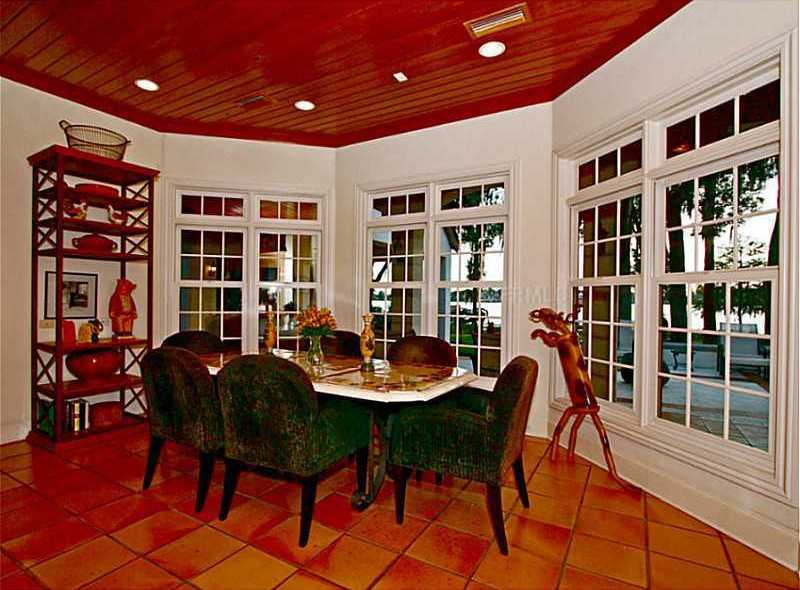 The kitchen has a dining area as well.