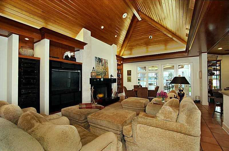 The family room offers tons of space for entertaining.