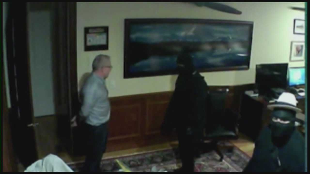 Three ninjas who robbed a local millionaire may be targeting other upscale communities.